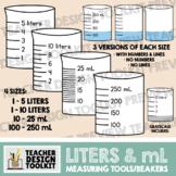 Measuring Cups / Beakers in mL and Liters (5 liters, 10 li