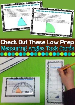 Measuring Degrees of Angles:  Task Cards and Activities
