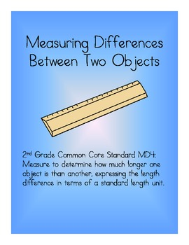 Measuring Differences SCOOT Activity - Common Core Second Grade Math