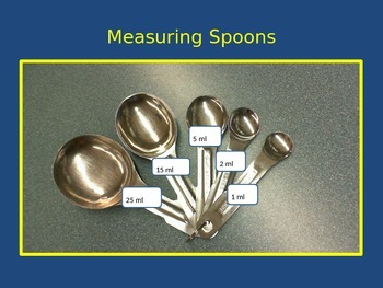 Measuring Dry and Liquid Ingredients - Images via Powerpoint