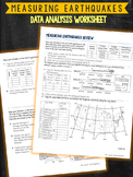 Measuring Earthquakes Seismic Waves Worksheet
