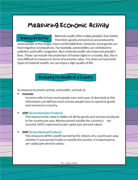 Measuring Economic Activity (Teaching PPt & Student Handout)