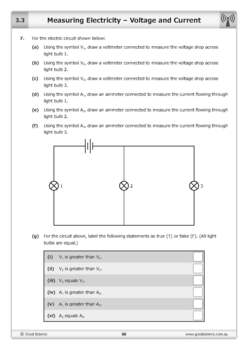 Measuring Electricity: Voltage and Current [Worksheet & Online Lesson]