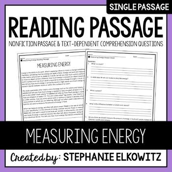 Measuring Energy Reading Passage
