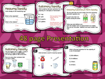 Measuring & Estimating Capacity Powerpoint & Guided Notes