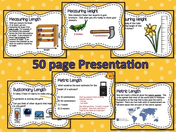 Measuring & Estimating Length Powerpoint & Guided Notes