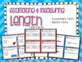 Measuring & Estimating Length Task Cards (Boom Cards also Included)