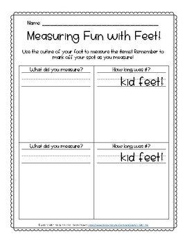 Nonstandard Measuring Fun with Feet