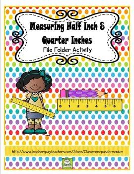Measuring Half Inch and Quarter Inch File Folder Activity (CC Aligned)