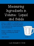 Measuring Ingredients In Volume:  Liquid and Solids