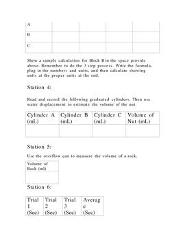 Measuring Lab (Mass length volume)