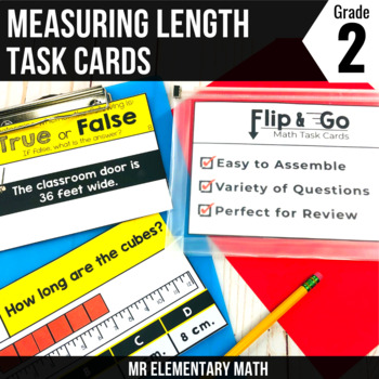 Measuring Length - 2nd Grade Math Flip and Go Cards
