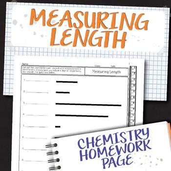 Measuring Length Chemistry Homework Worksheet