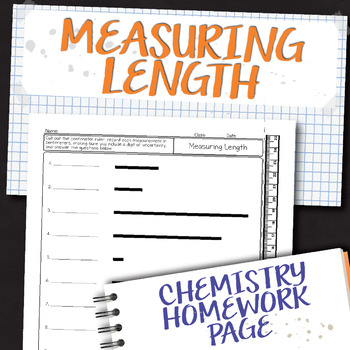 Measuring Length Chemistry Homework Worksheet