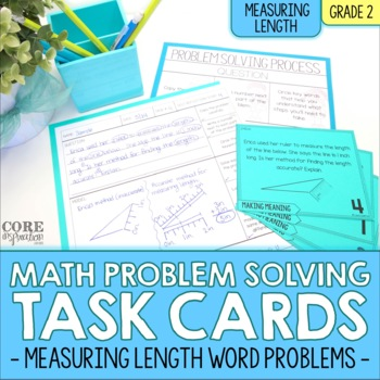 Measuring Length (Customary and Metric) - Write To Explain Math Task Cards