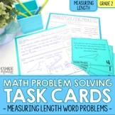 2nd Grade Measuring Length Math Word Problem Task Cards |