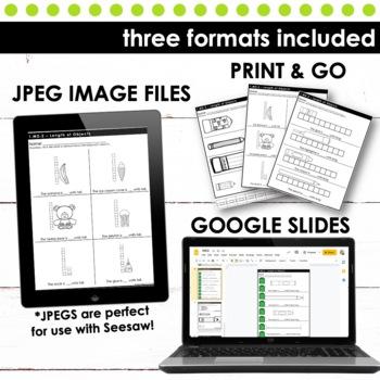 Measuring Length - First Grade Print and Go