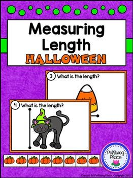 Measuring Length - Halloween Measurement Cards