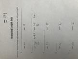 Measuring Length Lines Quiz/Key