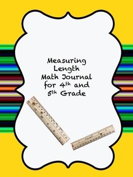 Measuring Length Math Journal