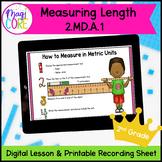 Measuring Length - Mini Lesson Google Slides Distance Learning