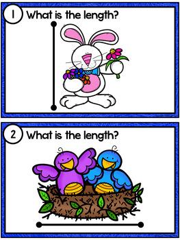 Measuring Length - Spring Measurement Cards