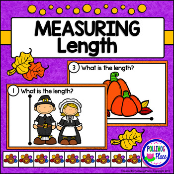 Measuring Length - Thanksgiving Measurement Cards