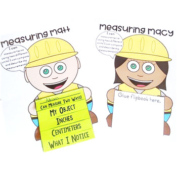Measuring Length Twice & Comparing  2.MD.A.2 Common Core Math 2nd Grade