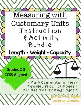 Measuring Length, Weight, and Capacity - U.S. Units of Measure Practice Pages