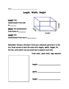 Measuring Length Width Height