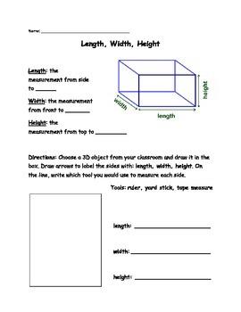 Measuring Length Width Height