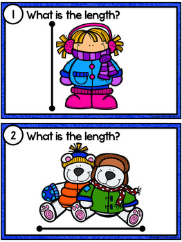 Measuring Length - Winter Measurement Cards