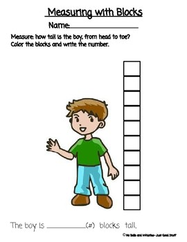 Measuring Length With Blocks (non-standard units)