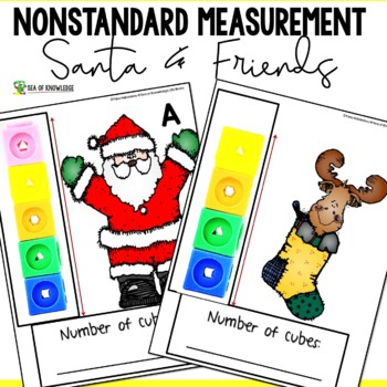 Measuring Length Worksheets - Christmas Santa and Friends