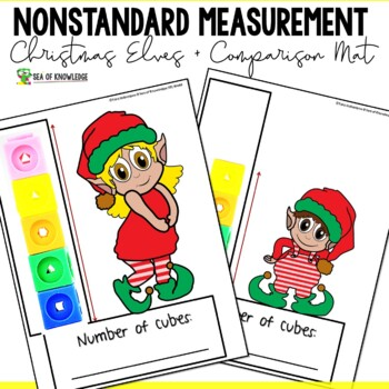 Measuring Length Worksheets - Christmas Santa's Elves