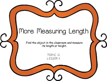 Measuring Length and Height - First Grade enVision Math