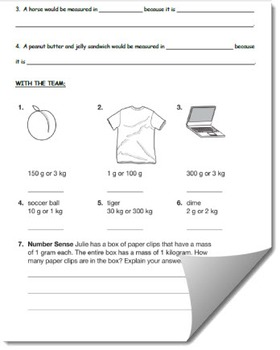 Measuring Length and Mass Full Printable Lesson