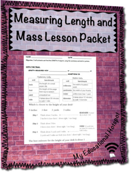 Measuring Length and Mass Printable Lesson Packet