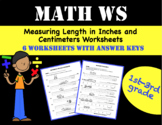 Measuring Length in Inches and Centimeters Worksheets (Distance Learning)