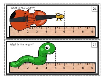 Measuring Length in Whole Inches Task Cards