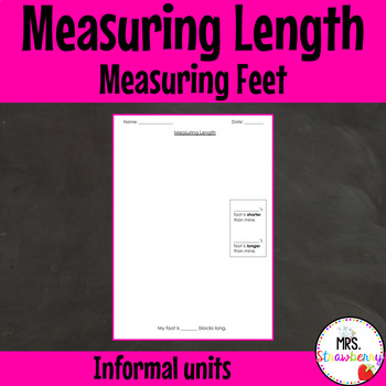 Measuring Length of Feet with Informal Units Worksheet