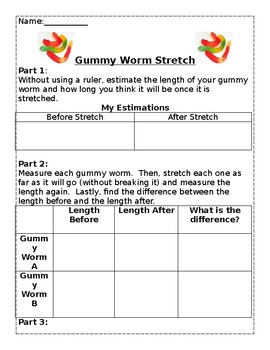 Measuring Length with Gummy Worms