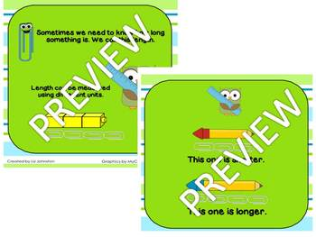 Measuring Length with Nonstandard Units Smart Notebook & Practice Sheet