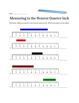 Measuring Lines that Don't start at Zero (Quarter Inch)