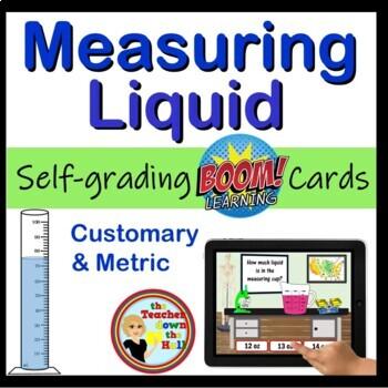 Measuring Liquid - Digital Practice BOOM Cards - 24 Self-checking cards!