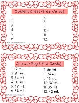 Measuring Liquid Volume {QR Codes} - Task Cards BUNDLE