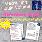 Reading Graduated Cylinders -  Student Reference Pages {FREEBIE}