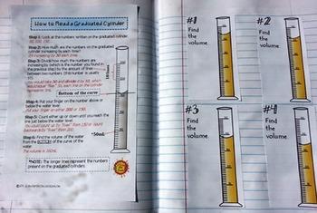 (Graduated Cylinders) Measuring Liquid Volume - Task Cards Increasing by 10 SET