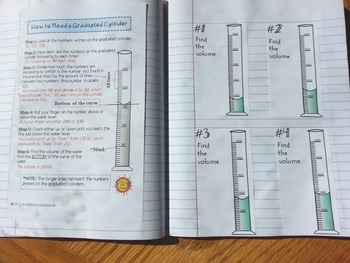 (Graduated Cylinders) Measuring Liquid Volume - Task Cards Increasing by 200 SET