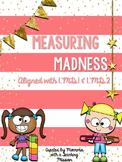 Measuring Madness Centers & No Prep Printables 1.MD.1 1.MD.2